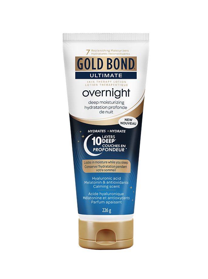 Photo du tube de 226 g d'Overnight Hydratation Profonde de Nuit de Gold Bond.