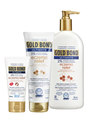 Image Gold Bond Ultimate Eczema Relief Cream & Lotion 225 mL tube.
