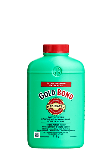 Image of Gold Bond Medicated Extra Strength 113g bottle.