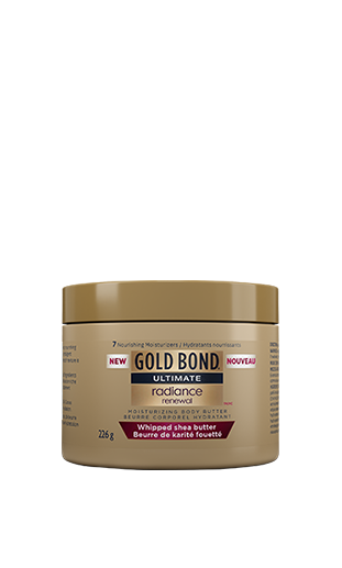 Image of Gold Bond Ultimate Radiance Renewal Whipped Shea Butter 226g tub with new decal.