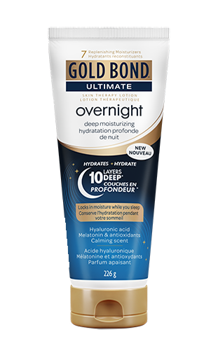 Image of Gold Bond Ultimate Overnight Deep Moisturizing lotion 226g tube with new decal.